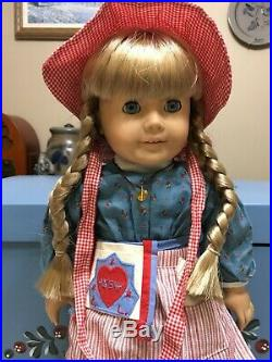 Vintage Pleasant Company American Girl Doll Kirsten with Meet Outfit & Accessories