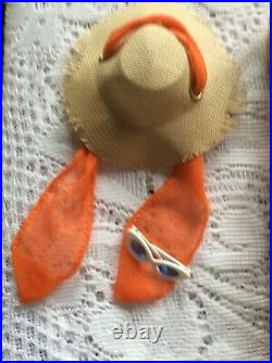 Vintage Rare 1958 Barbie Midge American Girl Doll, In The Swim Outfit GC