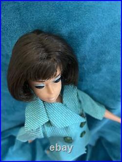 Vintage TLC American Girl Brunette Barbie Stamped 1958(c) in OOAK outfit-Lovely