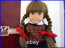 Vintage White Body Molly Doll Pleasant Company American Girl Box Meet Outfit 80s