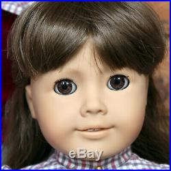 White Body Samantha Doll American Girl Pleasant Company in Outfit with Hat Book